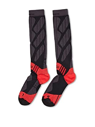 Grifone Calcetines Ski (Gris Oscuro / Rojo)