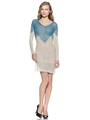 Stefanel Kleid (Blau/Weiß)