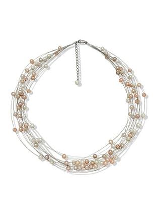 Valero Pearls 440530 - Collar de mujer de plata con perla cultivada de agua dulce, 48 cm
