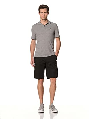 John Varvatos Star USA Men's Short Sleeve Pique Polo (Heather Grey)