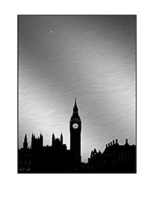 Big Ben Desaturated Photography On Mounted Metal