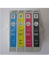 Epson 141 Original Black, Cyan, Yellow, Magenta Ink Cartridge Set