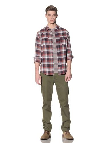 Riviera Club Men's Barolo Flannel Shirt (Orange)