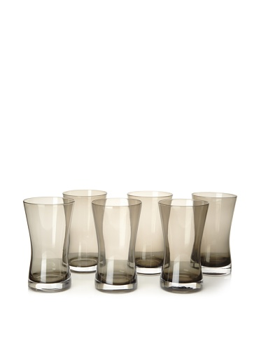 Artland Set of 6 Soho Highball Glasses, Smoke
