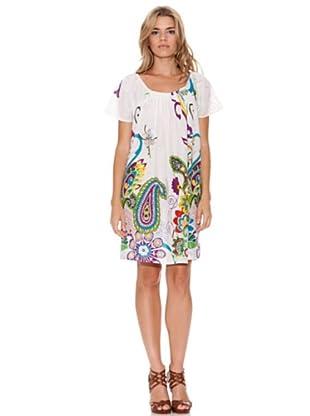 Peace & Love Vestido Estampado (crudo)