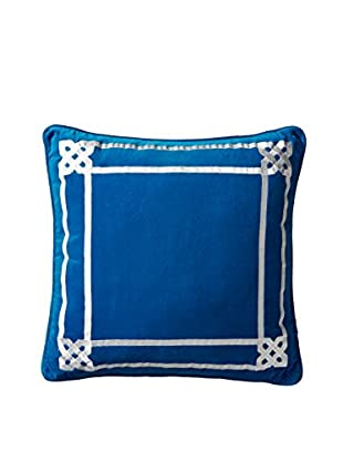 Happy Chic by Jonathan Adler Samantha Border Pillow, Blue/White