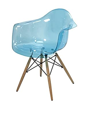 Declan Teal Blue Transparent Chair