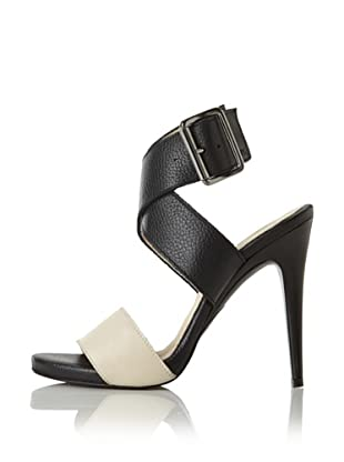 C'N'C CoSTUME NATIONAL Women's Two-Tone Stiletto Sandal (Beige/Black)
