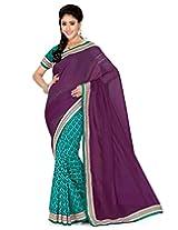 Saree Swarg Saree (Rama Green Wine)