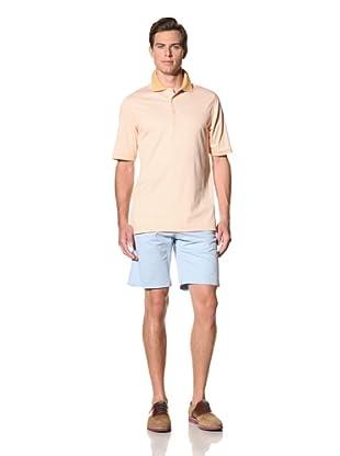 Bobby Jones Men's Stripe Liquid Cotton Polo (Tangerine)