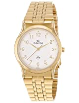 Maxima Gold Analog White Dial Men's Watch - 16281CMGY
