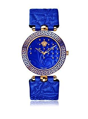 Versace Uhr mit schweizer Quarzuhrwerk Vanitas VK7040013 blau 40.00 mm
