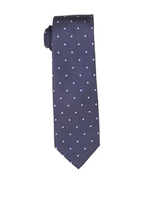 Yves Saint Laurent Men's Dot Tie, Light Blue/Navy Shine