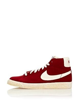 Nike Zapatillas Blazer Mid Vintage (Ps) (Rojo / Blanco)
