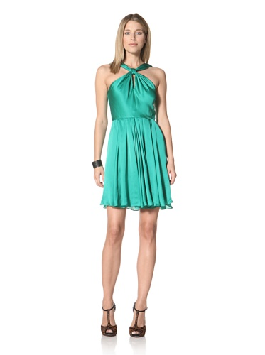 Halston Heritage Women's Knot Front Dress (Grass)