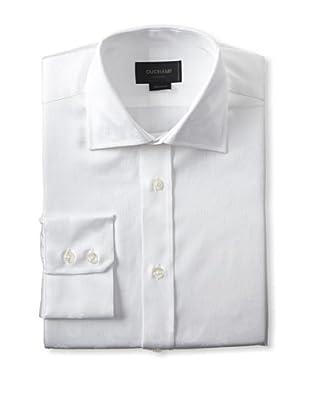 Duchamp Men's Painterly Floral Jacquard Dress Shirt (White)
