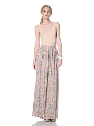 Parker Women's Zigzag Beaded Long Skirt (Multi)