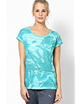 Aqua Blue Printed Blouse Puma