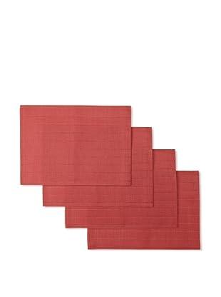Winkler Set of 4 Bricks Jacquard Placemats (Red)