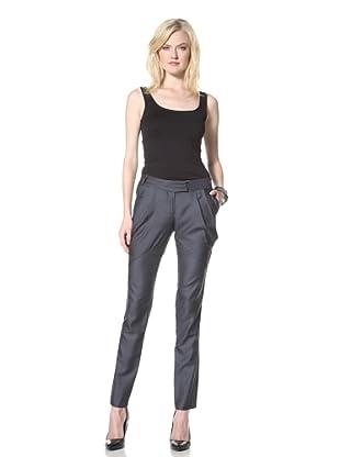 L.A.M.B. Women's Tonal Check Pants (Navy)