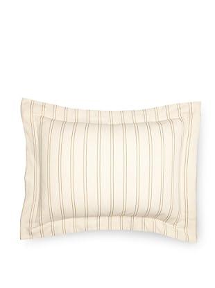 Coyuchi Two-Tone Stripe Pillow Sham (Ivory/Mustard)
