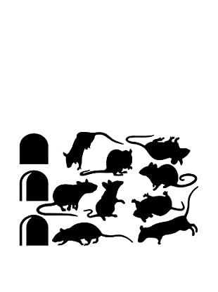 Ambiance Sticker Wandtattoo Funny Stairs Pack With Mouses And Mouse Holes
