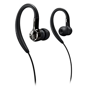 Philips SHS8100/98 Earhook Headphone (Black)