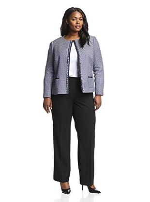 Tahari by ASL Plus Women's Tweed Blazer Pant Suit