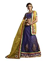 Bewitching blue and yellow Jacquard - ALS52010