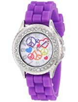 "Frenzy Kids' FR792 ""Peace"" Rhinestone-Accented Watch"