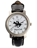 Polo Club White Leather Analog Men Watch Dn Polo White