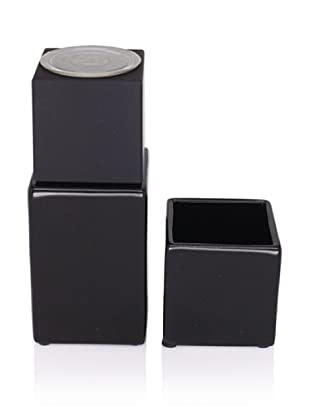 CULT DESIGN Cube Spice Bowl & Grinder Set, Black