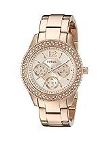 Fossil Stella Multifunction Stainless Steel Women's Watch - Rose ES3590