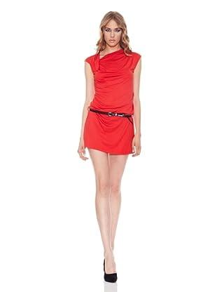 Salsa Vestido Escote Asimétrico (Rojo)