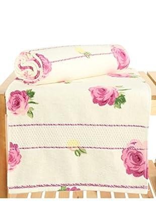 Maisonette Ceylin 2-Piece Bath Towel Set, Pink