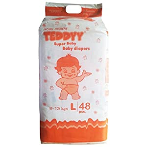 Teddyy Super Baby Large Size Diaper (48 Count)