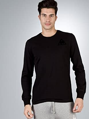 Le Coq Camiseta Bordado (Negro)