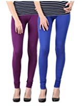 Blackmilan Women's Leggings (ZBMWL-1004-Purple-Rblue_Multi-Coloured_Small)