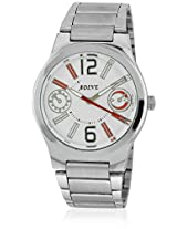 Ad-5008 Silver/White Analog Watch Adine