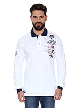 Geographical Norway Polo Manga Larga ML Karite Ls Men 401 (Blanco)