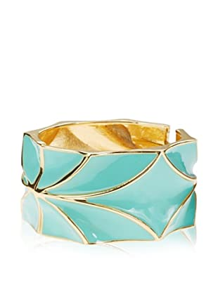 Sparkling Sage Mint Blue Hinged Bangle