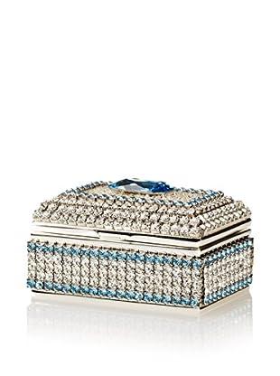 Isabella Adams Freshwater Pearl & Swarovski Crystal Ring Box, March (Aquamarine)