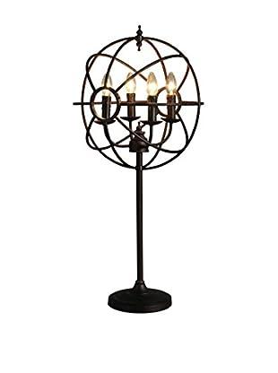 CDI Furniture Tall Sputnik Table Lamp, Black