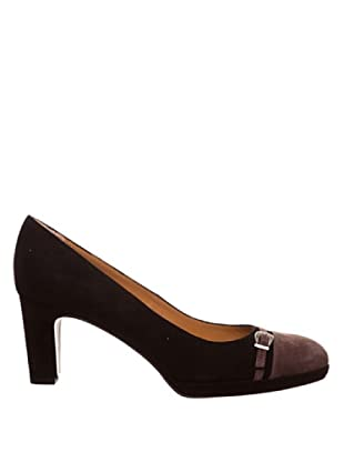 Paco Herrero Zapatos Ante Hebilla (Negro)