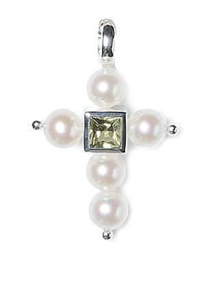 Alraune Anhänger Kreuz Silber mit Peridot