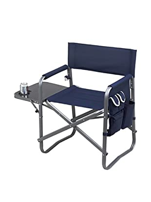 Folding Directors Chair With Table & Organizer, Navy