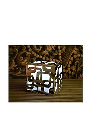 Artkalia Kalis Wireless LED Mood Cube, Glossy Silver