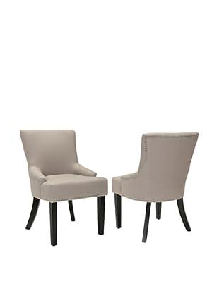 Safavieh Set of 2 Lotus Kd Side Chairs, Taupe
