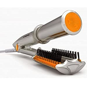 Nova NHC 1100 Hair Straightener Cum Curler For Women (Silver)