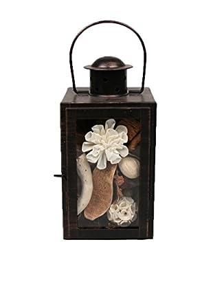 Jodhpuri Fresh Linen Potpourri-Filled Lantern, White/Brown